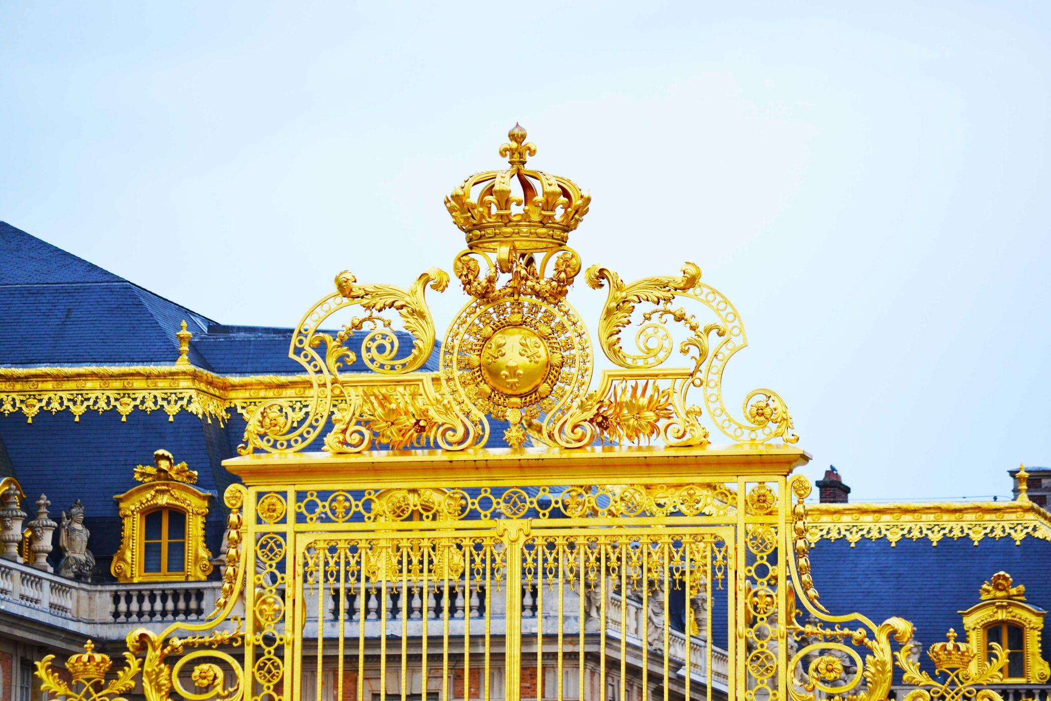 Portail royal du château de Versailles, France