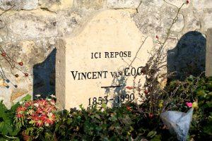 Van Gogh's grave in Auvers sur Oise, France