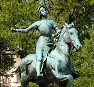 Statue de Jeanne d'Arc, La pucelle d'Orléans