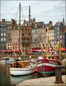 The old harbour in Honfleur, Normandy, France
