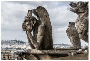 Gargoyles at Notre Dame Cathedral, Paris