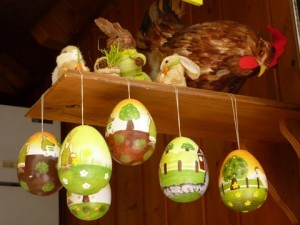 Easter decorations in Alsace, France