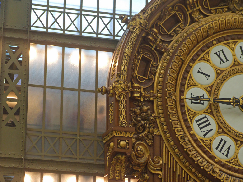 Art Nouveau Clock in Musée d'Orsay, Paris, France