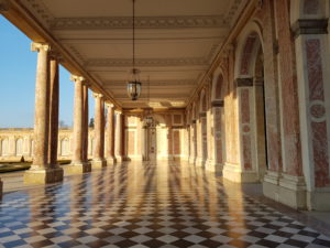 Domain of Versailles Castle- Great Trianon at sunset