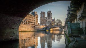 La Cathédrale Notre Dame vue depuis la Seine