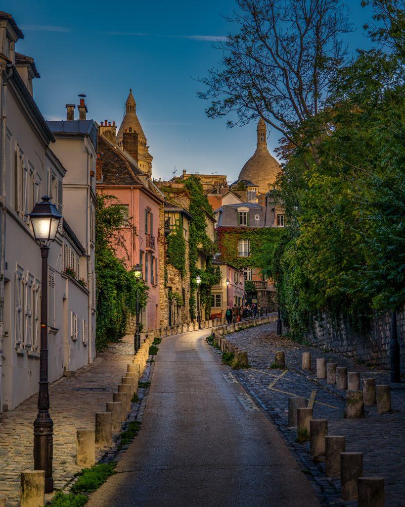 Taiteilijat Pariisissa, rue de l'Abreuvoir, Montmartre