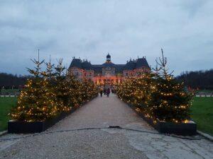 Christmas decorations at the Vaux Le Vicomte castle Maincy Paris area