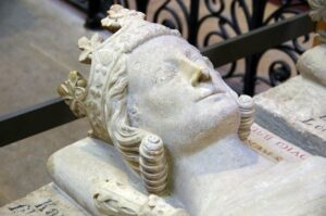Funerary sculpture in Basilica of Saint-Denis