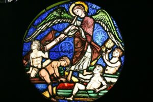 Cluny Museum in Paris and Medieval art with stainglass windows