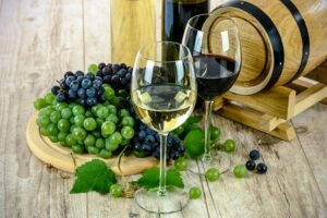 Tasting delicious wine in the Loire Valley, France