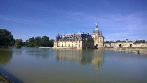 Chantilly castle, gardens and royal staples