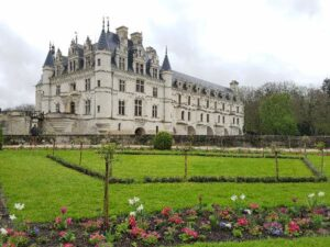 Chenonceau castle and gardens in the Loire Valley, France