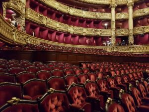 Private visit in the Opera Garnier, auditorium -Phantom of the Opera